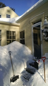 "Front door. Since this was taken another 12"" has fallen."